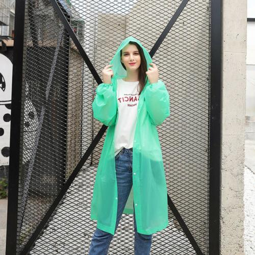 US Waterproof Jacket Raincoat Rain Poncho Rainwear
