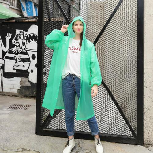 US NEW Men Women Waterproof Jacket PE Raincoat Rain Rainwear