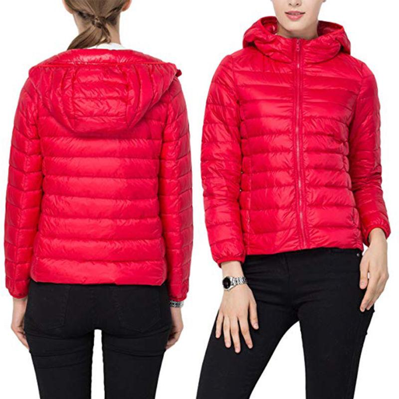 US Packable Down Coat Ultralight Hooded