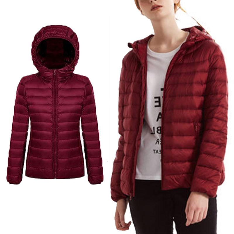 US Women's Down Ultralight Hooded Jacket