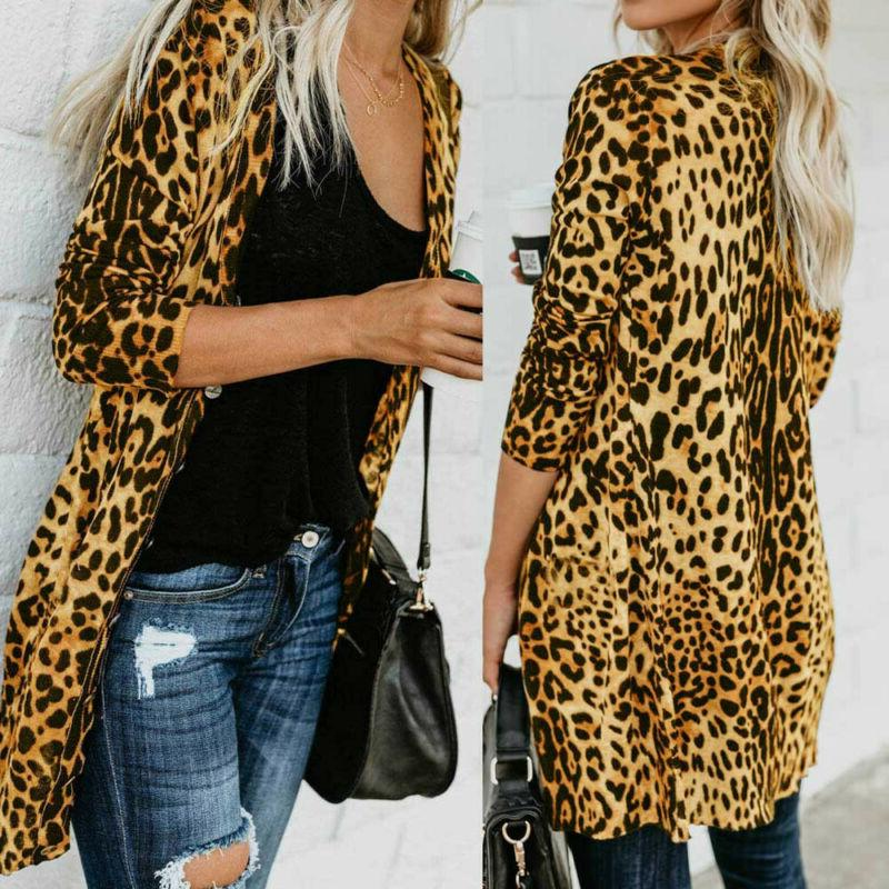 US Print Top Casual Long Sweater Outwear