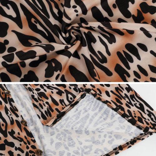 8d35de554a0f US STOCK Women Leopard Print Loose Casual Outwear. US STOCK Print Top  Casual Coat Outwear