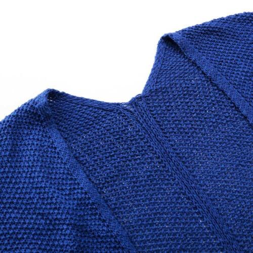 US Cardigan Top Chunky Knitted
