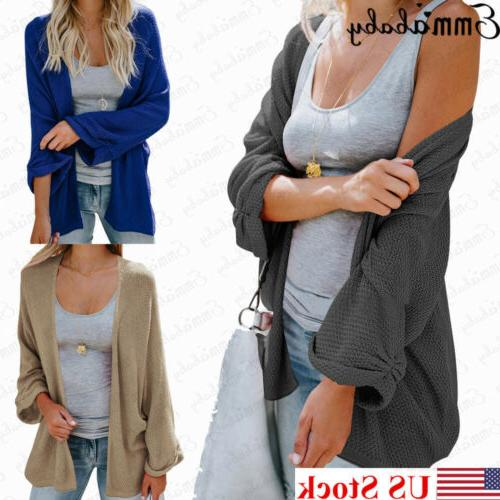 US Womens Cardigan Knitted