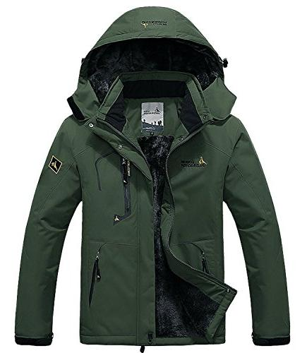 Pooluly Waterproof Windproof Rain Snow Fleece
