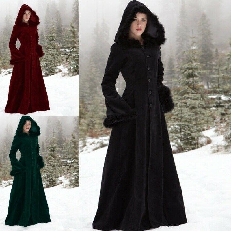 women gothic dress regency hooded steampunk jacket