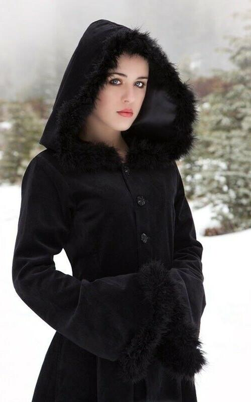 Women Gothic Hooded Steampunk Coat Halloween