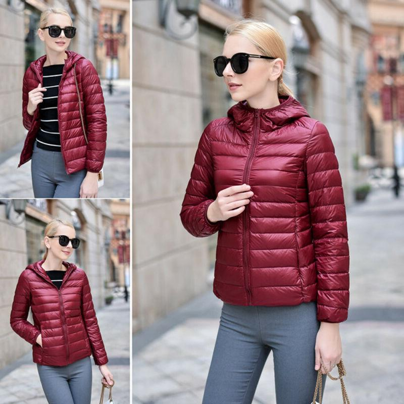 Women Hooded Parka Jacket Puffer Coat