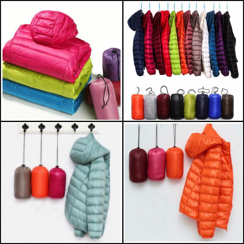 Women Hooded Packable Parka Jacket Coat Winter Outwear