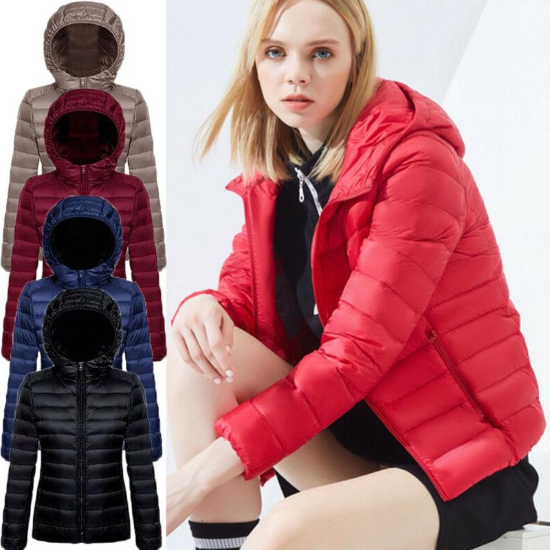 women hooded packable down parka jacket ultralight