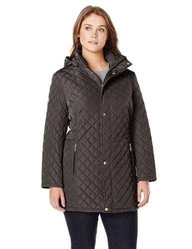 women s classic quilted jacket with side
