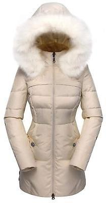 Valuker Women's Down Coat with Fur Hood with 90% Down Parka