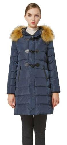 Orolay Women'S Down Jacket Hooded Outdoor Winter Thickened C