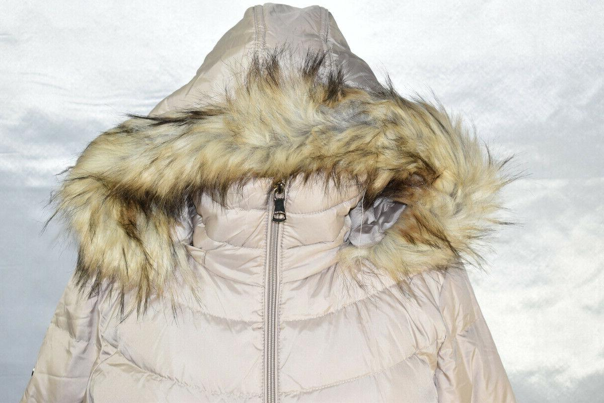 Calvin Puffer Faux Fur Hooded, Size M, $180,