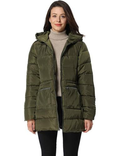 iLoveSIA Women's Down Quilted Padded Thicken Puffer Coat wit