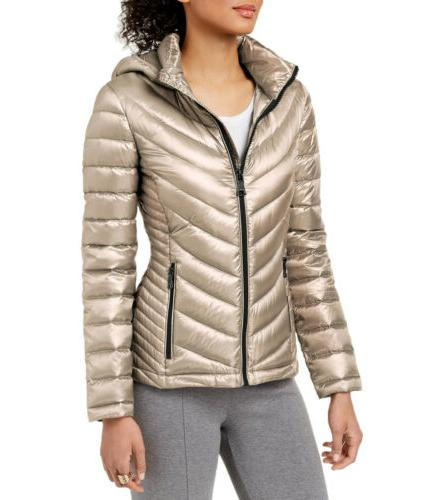 Calvin Klein Women's Hooded Packable Down Puffer Coat Jacket