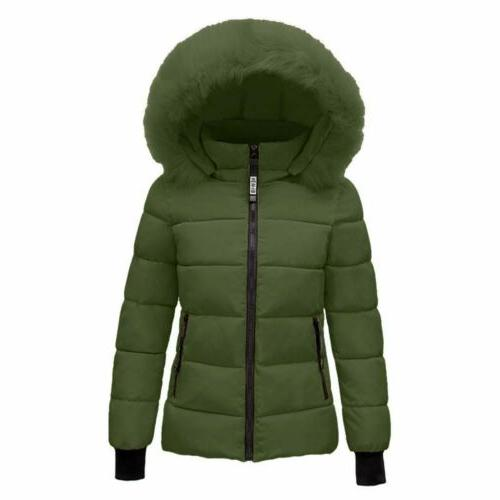 US Women Winter Warm Quilted Coat Puffer Outwear