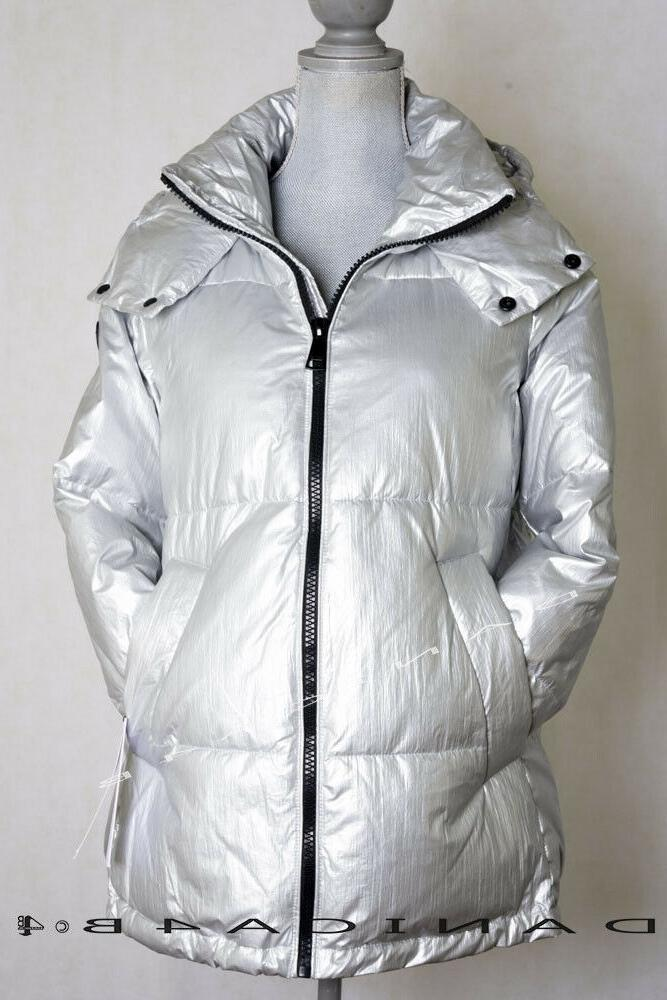 women s quilted hooded oversized puffer jacket
