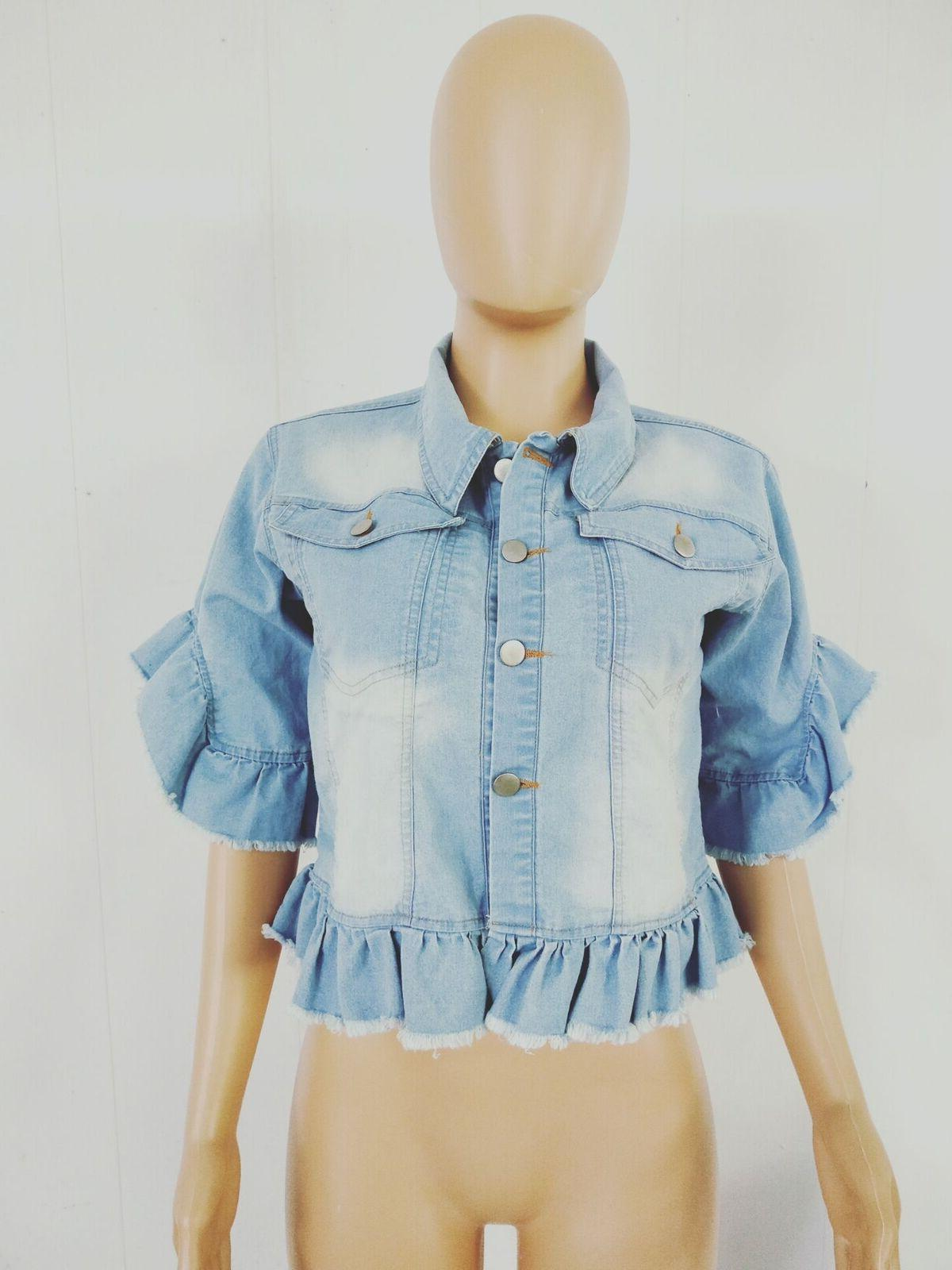 Women's Denim Jacket Casual Fashion Slim
