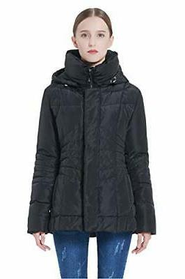 Orolay Women's Short Down Coat Winter Jacket Removable Hood