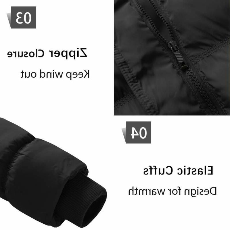 Wantdo Coat Quilted With Removable Hood