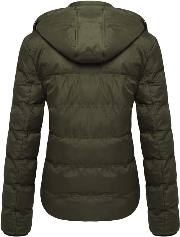Wantdo Women's Winter Coat Quilted Warm Jacket with Removable