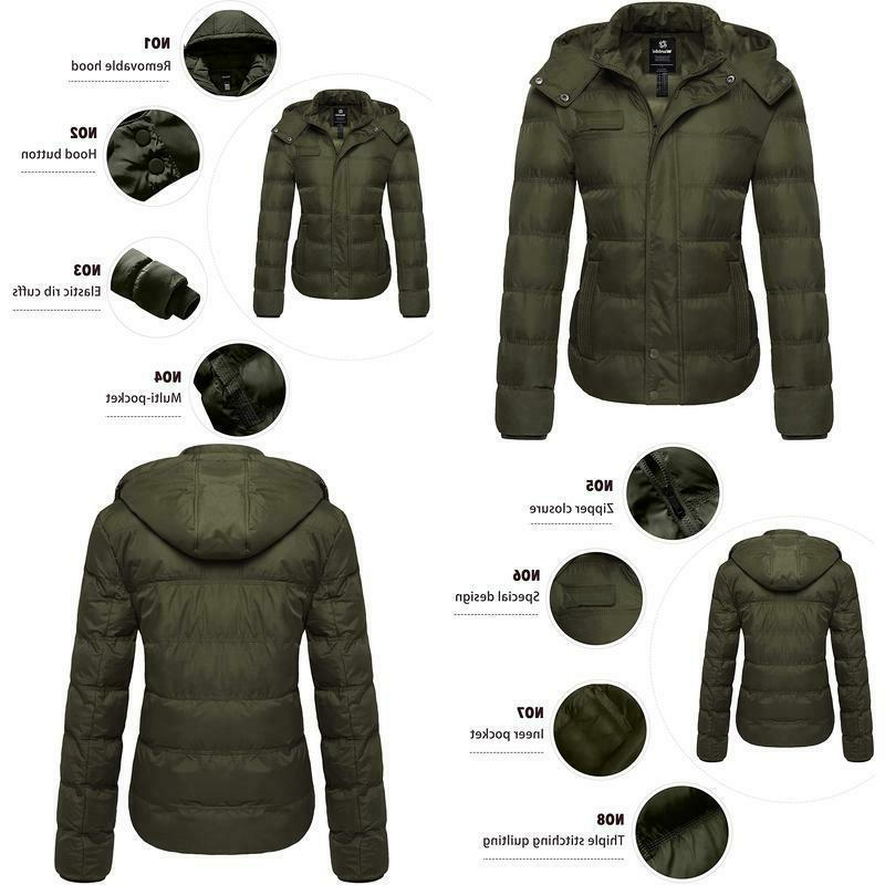 women s thick winter coat quilted warm