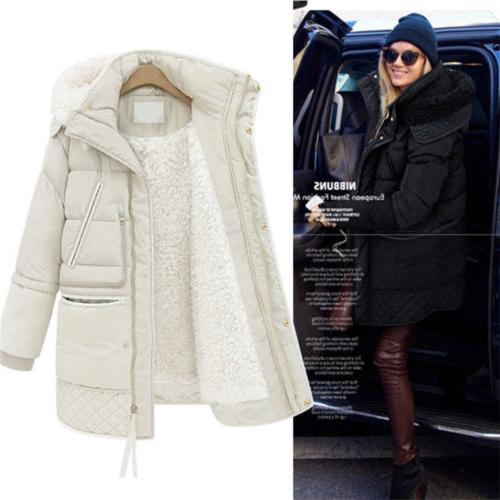women s warm cotton down thick jacket