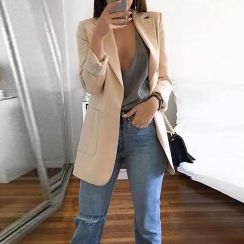 Women Slim Jacket Outwear Long Sleeve Career Formal Coat