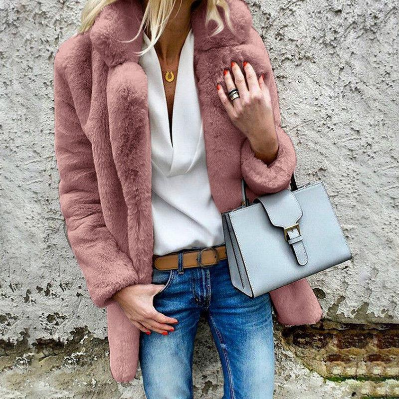 Women Teddy Bear Fluffy Coat Jacket
