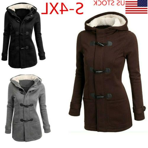 women thicken hooded warm coat jacket trench