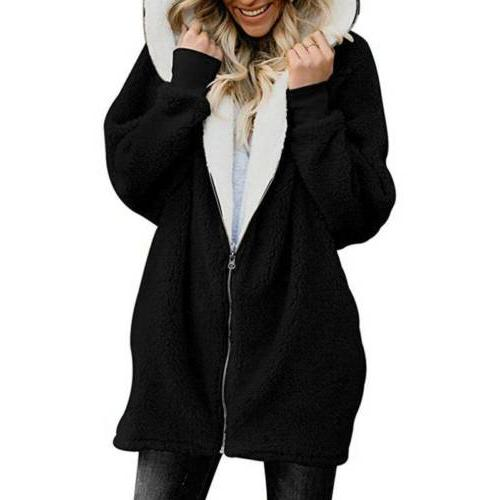 Women Winter Fuzzy Coat Fleece Outerwear Color