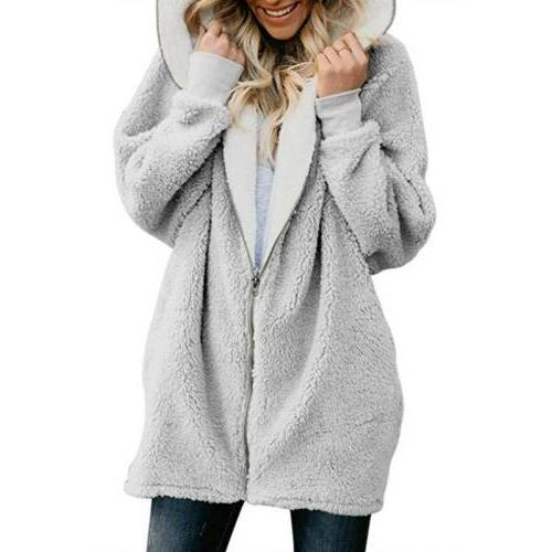 Women Winter Fluffy Outerwear