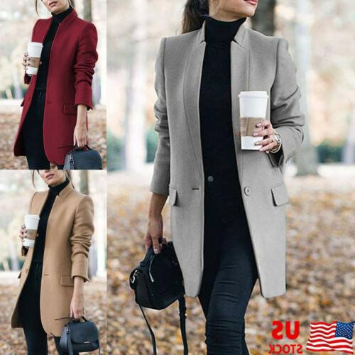 women winter trench coats blazer wool long