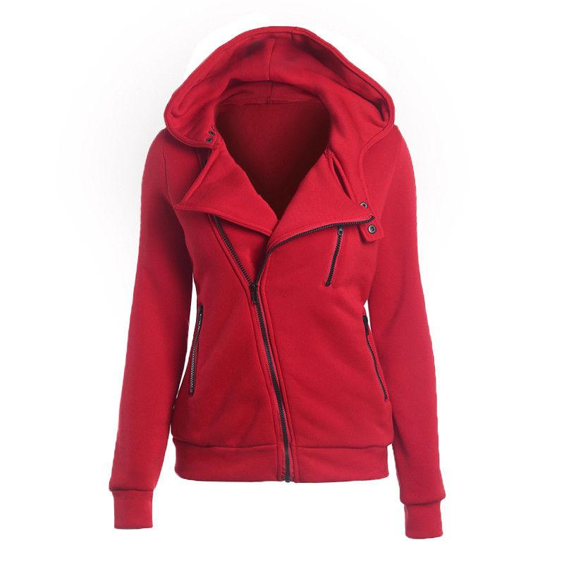 Women Zipper Pullover Sweatshirt Winter Outwear
