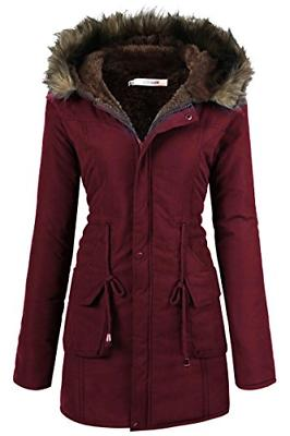 Beyove Womens Hooded Warm Winter Faux Fur Lined Parkas Long