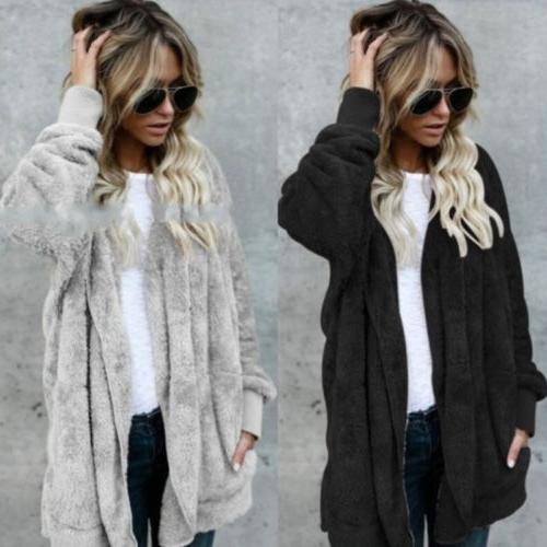 Womens Coat Tops Knitted Oversized