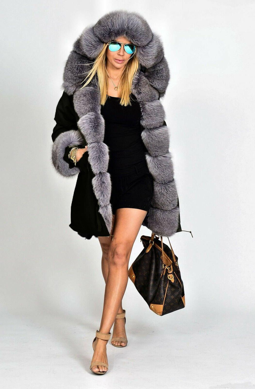 Ladies Womens Winter Thick Long Parka
