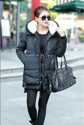 Orolay Women's Thickened Down Jacket sz XL Black Coat Puff