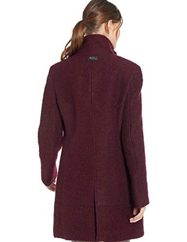 Calvin Klein Coat with Tunnel Collar and pu Chianti/Black, XL