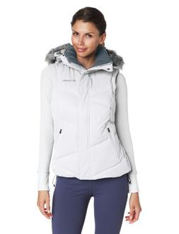 Columbia Women's Lay 'D' Down Vest, White, Small