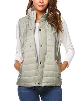 Beyove Women's Ligthweight Down Vest Ultralight Packable Out