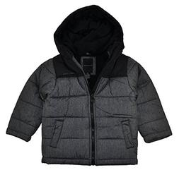 Calvin Klein Little Boys Charcoal & Black Bubble Outerwear C