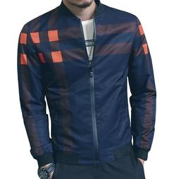 LOGEEYAR Men's Bomber Jacket Casual Slim Fit Printed Outerwe