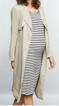 Monrow Long Maternity Trench Coat