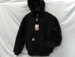 men s black duck quilted flannel lined