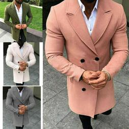 Men's Double Breasted Thick Overcoats Mens Jackets Winter Wo