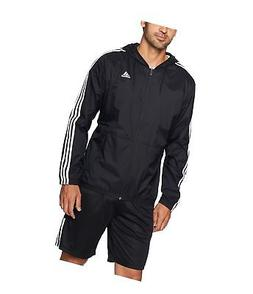 adidas Men's Essentials Wind Jacket Black/Black/White Small