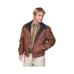 Scully Men's   Featherlite Leather Jacket w/ Double Collar 4