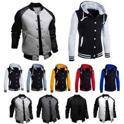 Men's Varsity University College Baseball Sports Jacket Coat